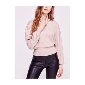 Free People Glam Turtle Sweater Pearl Dust Size Sm